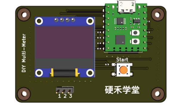 基于16引脚MCU最小系统模块的DIY万用表/元器件特性测试仪