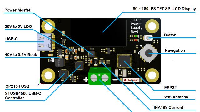 基于ESP32的USB C可编程电源