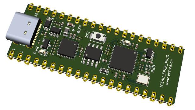 基于iCE40UP5K、可移植RISC-V、兼容树莓派Pico管脚的FPGA核心板