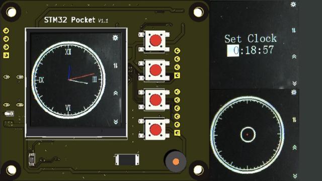 基于STM32F103口袋开发平台的模拟时钟及水平仪
