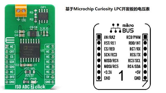 基于mikroBUS的电压表模块