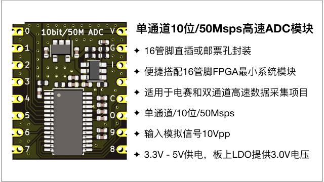 10bit/50Msps高速ADC�?�