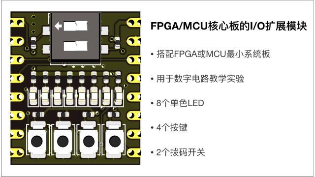 搭配FPGA/MCU核心板的输入/输出扩展模块