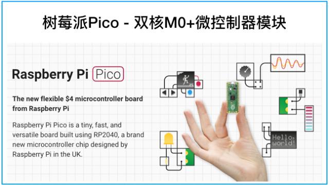 树莓派Pico - 仅4美元的双核嵌入式系统模块
