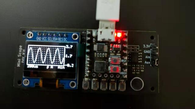 寒假在家一起练1-有信号发生器功能的简易示波器