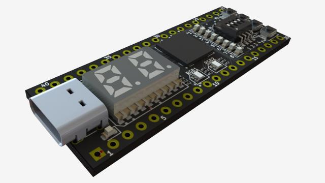 新版小脚丫FPGA核心板 - USB C供电、配置FPGA、UART通信,无需下载安装软件即可编程