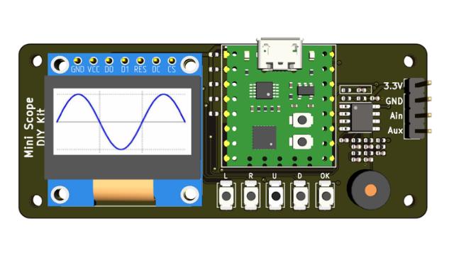有信号发生器功能的简易示波器DIY套件V2.0