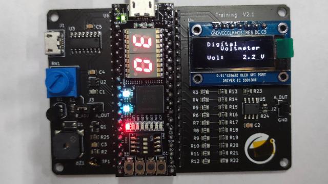 2021暑假一起练-基于小脚丫FPGA综合技能训练板的数字电压表