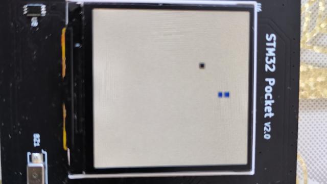 基于STM32F103的口袋嵌入式学习/控制平台项目5功能2贪吃蛇小游戏