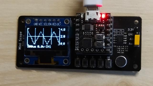 寒假在家一起练——简易示波器DIY套件(基于STM32G031最小系统)